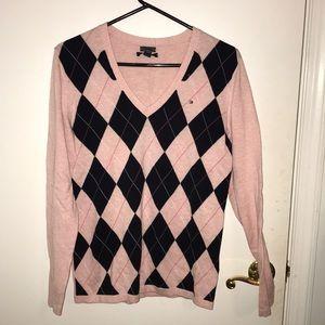 Pink Argyle Tommy Hilfiger Sweater